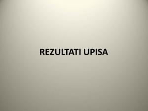 OBAVIJEST O OBJAVI REZULTATA UPISA DJECE 2018./2019.